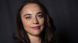 """Anastasia Mikova, co-réalisatrice du film """"Women"""", le 26 septembre 2019 à Los Angeles. (VALERIE MACON / AFP)"""