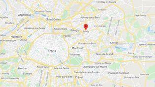 La commune de Bondy en Seine-Saint-Denis. (GOOGLE MAPS / FRANCETV INFO)