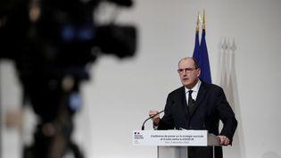 Le Premier ministre, Jean Castex, lors d'une conférence de presse, le 3 décembre 2020. (BENOIT TESSIER / AFP)
