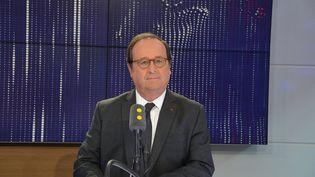 François Hollande, ancien président de la République, invité de franceinfo le 22 mai 2018. (JEAN-CHRISTOPHE BOURDILLAT / FRANCE-INFO)