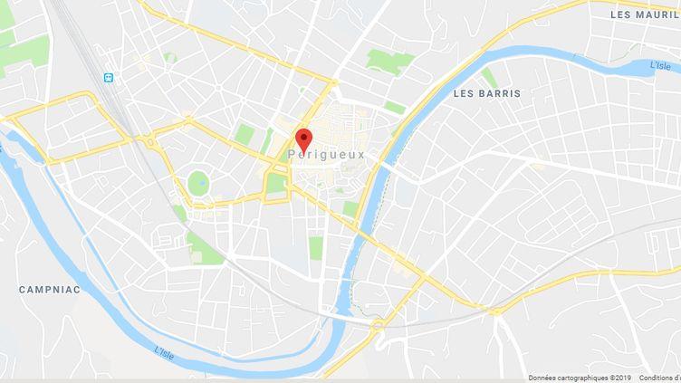 La rue André-Saigne de Périgueux. (CAPTURE ECRAN GOOGLE MAPS)