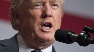 Donald Trump lors d'un discours sur la stratégie nationale de sécurité, le 18 décembre 2017. (SAUL LOEB / AFP)