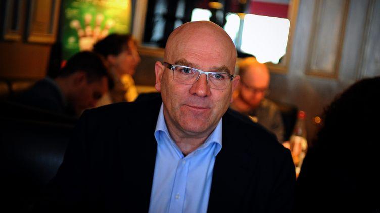 Le député LREM Bruno Bonnel, alors entrepreneur, le 14 février 2012 à Lyon. (MAXPPP)