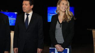Débat du second tour des élections régionales, avec Christian Estrosi et Marion Maréchal Le Pen enrégion Provence-Alpes-Côte d'Azur, le 8 Décembre 2015. (MAXPPP)