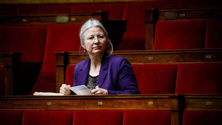 La députée LREM de l'Oise Agnès Thill sur les bancs de l'Assemblée nationale, le 5 février 2019. (MAXPPP)