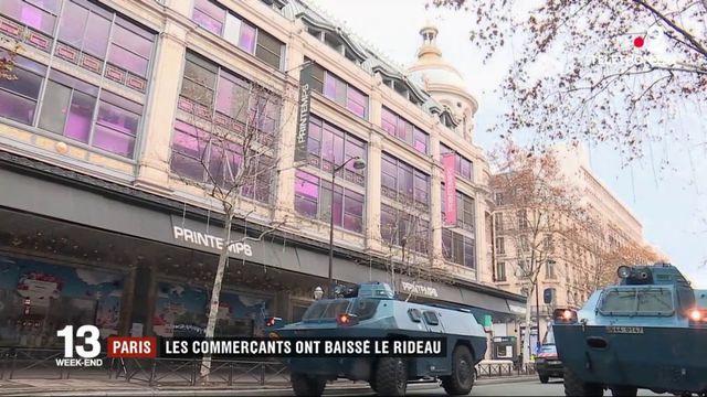 """""""Gilets jaunes"""" : les commerçants baisse le rideau à Paris"""