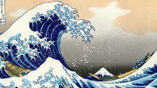 """""""Sous la grande vaigue au large de la côte à Kanagawa"""" reste l'oeuvre la plus connue d'Hokusai.  (Ann Ronan Picture Library / Photo12)"""