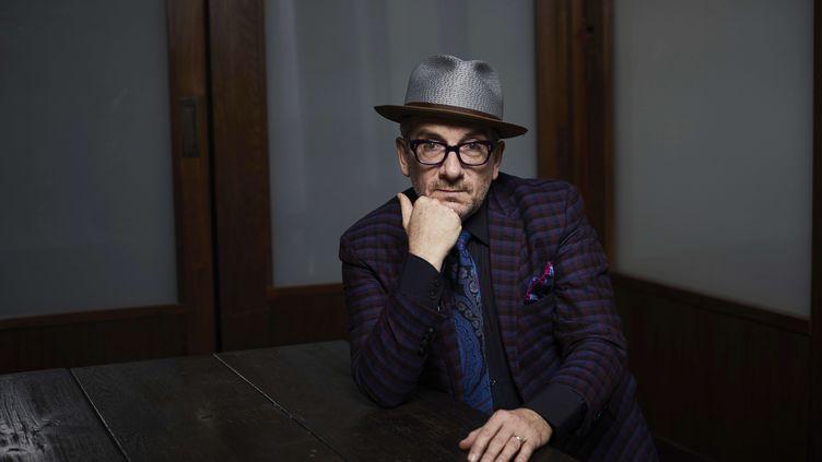 Elvis Costello le 17 septembre 2018 à New York (MATT LICARI / AP / SIPA)