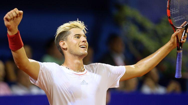 La joie de l'Autrichien Dominic Thiem après sa victoire (STR / AFP)
