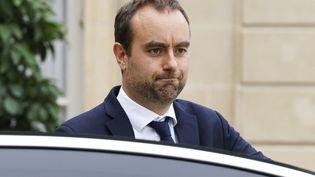 Sébastien Lecornu, ministre des Outre-Mer et président du conseil départemental de l'Eure, le 23 juin 2021 à Paris. (LUDOVIC MARIN / AFP)