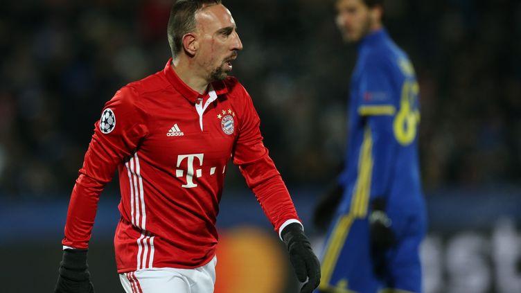 Franck Ribéry pourrait manquer le 8e de finale aller de C1 face à Arsenal (IGOR RUSSAK / ANADOLU AGENCY)