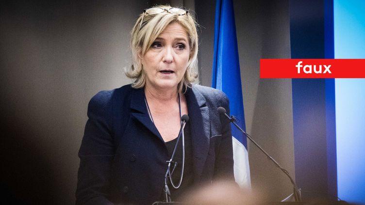 """Marine Le Pen affirme que """"96% des demandeurs d'asile sont déboutés"""" (MAXPPP)"""