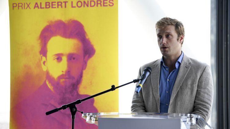 Samuel Forey, journaliste, lauréat du prix Albert Londres 2017 catégorie presse écrite (ERIC FEFERBERG / AFP)