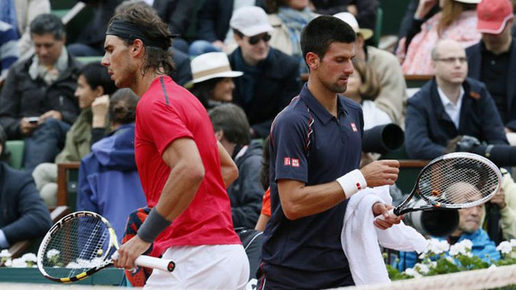 Rafael Nadal et Novak Djokovic devront finir leur match lundi (13h), si le temps le permet