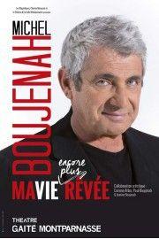 Extrait de l'affiche du prochain spectacle de Michel Boujenah  (Gaité Montparnasse)