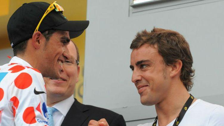 Alberto Contador et Fernando Alonso se sont rencontrés à Monaco sur le Tour de France 2007