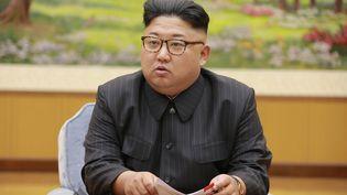 Kim Jong-un en Corée du Nord, le 3 septembre 2017. (KCNA VIA KNS / AFP)