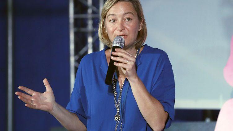Ludovine de La Rochère, la présidente de la Manif pour tous, à Étiolles, le 18 septembre 2016. (FRANCOIS GUILLOT / AFP)
