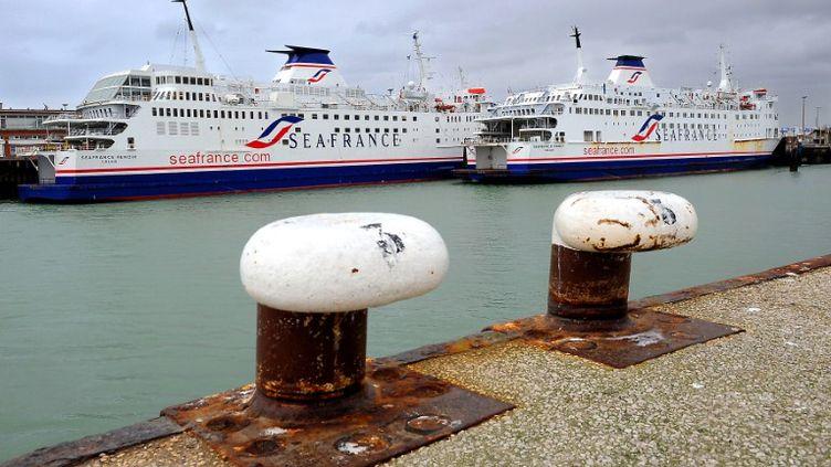 Plus de 300 salariés de SeaFrance vont être licenciés à la suite de la mise en liquidation de la compagnie de ferries. (PHILIPPE HUGUEN / AFP)