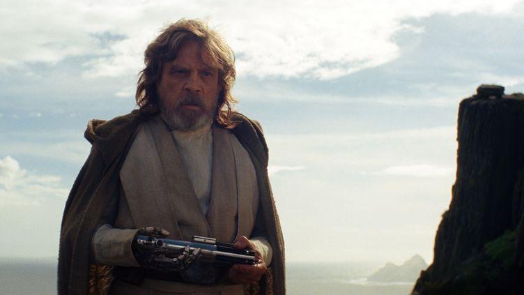 """Luke Skywalker, incarné par Mark Hamill, dans le film """"Star Wars les derniers Jedi"""". (WALT DISNEY PICTURES / LUCASFILM / AFP)"""