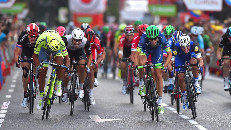 Le Danois Magnus Cort Nielsen (Orica) avait remporté la 21e et dernière étape de la Vuelta 2016 à Madrid devant l'Italien Daniele Bennati (Tinkoff). (DE WAELE TIM / TDWSPORT SARL)