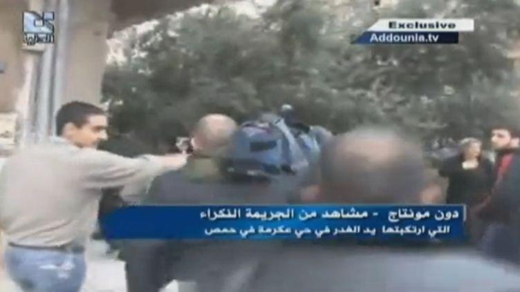 Capture d'écran des images du décès de Gilles Jacquier diffusées par Addounia.tv. (FTVI / FRANCE 2)
