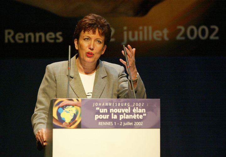 Roselyne Bachelot, ministre de l'Ecologie et du Développement durable, lors des Journées nationales du développement durable organisées le 1er et 2 juillet 2002 à Rennes (Ille-et-Vilaine). (MARCEL MOCHET / AFP)