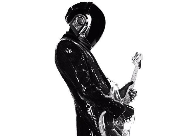 Costume de scène de Guy-Man dessiné par Hedi Slimane pour Daft Punk 2013.  (Saint Laurent Music Project / Daft Punk)