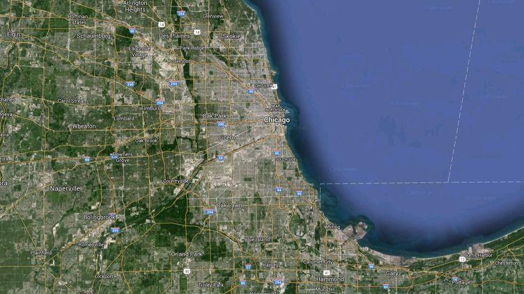 Un homme a été hospitalisé dans un état critique après avoir été victime de tirs, jeudi 31 mars à Chicago (Etats-Unis). (GOOGLE MAPS)