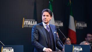 Giuseppe Conte, du Mouvement 5 étoiles, à Rome (Italie), le 4 mars 2018. (SILVIA LORE / NURPHOTO / AFP)