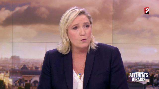 """Attentats de Paris : Marine Le Pen dénonce """"des mesurettes"""""""