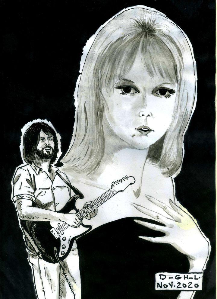 """Erci Clapton et """"Layla"""", par le dessinateur Denys Legros (Denys Legros)"""