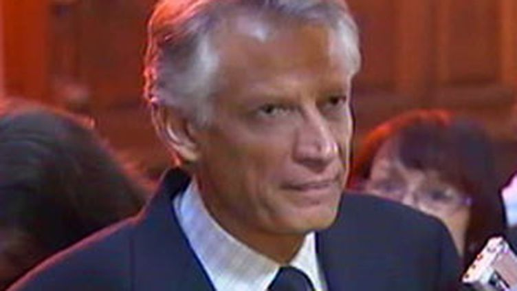 Dominique de Villepin lors du procès Clearstream le 30 septembre 2009 (© FRance 2)