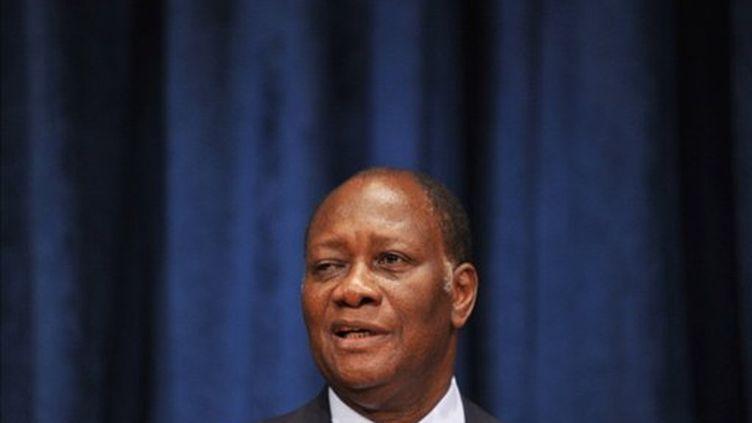 Le président Alassane Ouattara, à Nations-unies, à New York, le 24 juillet 2011 (AFP/STAN HONDA)