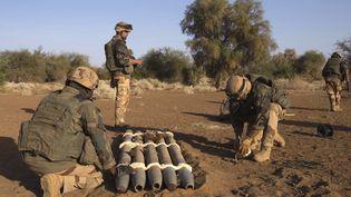 Le 92e régiment d'infanteriele 8 avril 2013 à Mujao,dans le nord du Mali. (JOEL SAGET / AFP)