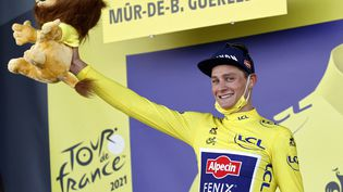 Mathieu van der Poel (Team Alpecin Fenix)a fait coup double dimanche 27 juin sur le Tour de France. (POOL JAN DE MEULENEIR / BELGA MAG / AFP)