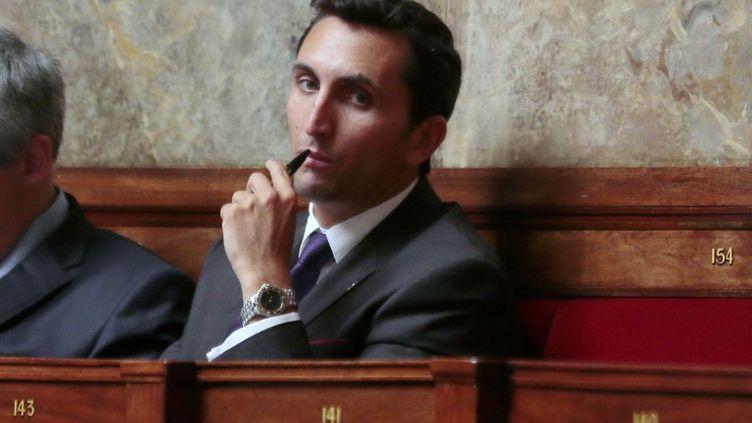 Le député UMP Julien Aubert, le 9 juillet 2014 à l'Assemblée nationale. (JACQUES DEMARTHON / AFP)