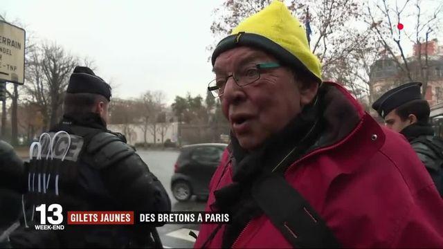 """""""Gilets jaunes"""" : des Bretons à Paris"""