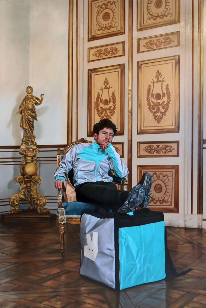 Toile de Arnaud Adami (Arnaud Adami Nicolas 2021 Courtsey l'artiste et H Gallery, Paris.)