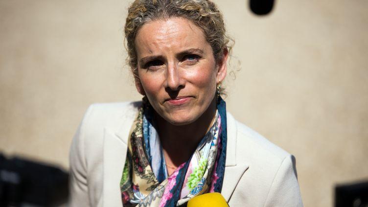 L'ancienne ministre de l'Ecologie Delphine Batho répond aux questions des journalistes devant l'Elysée, le 5 juin 2013. (LIONEL BONAVENTURE / AFP)