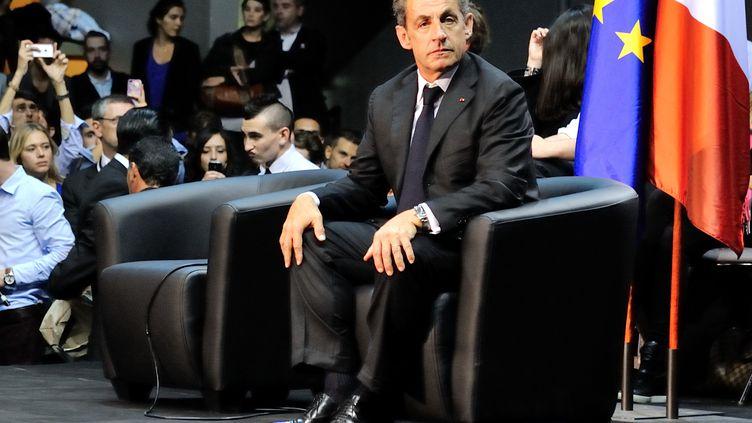 L'ancien président de la République, Nicolas Sarkozy, le 28 octobre 2014 à Marseille (Bouches-du-Rhône). (CITIZENSIDE / JEAN FRANÇOIS GIL / AFP)