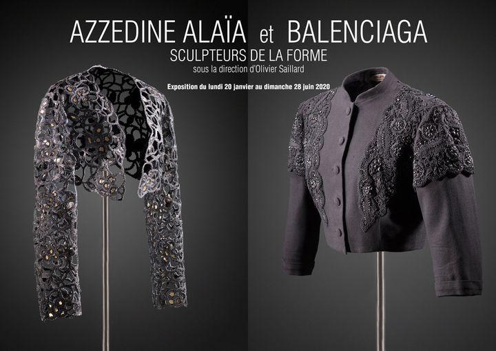 Affiche de l'exposition Azzedine Alaïa et Balenciaga, sculpteurs de la formequi se tient à partir du 20 janvier 2020 rue de la Verrerie (Julien Vidal)