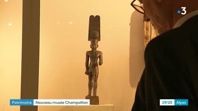Inauguration du musée Champollion