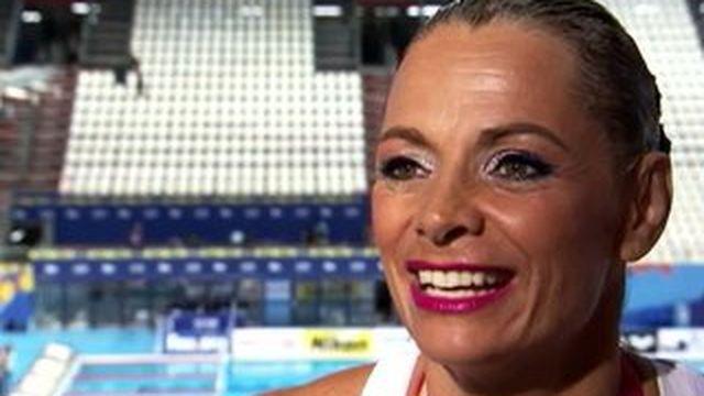 Le retour triomphal de Muriel Hermine, championne du monde vétérans de natation synchronisée
