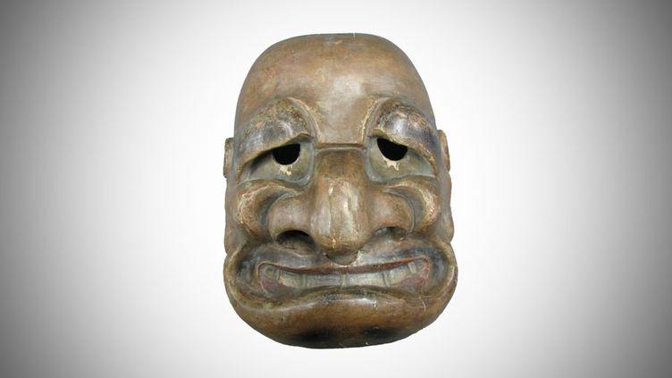 Ce masque japonais,daté de la fin du XVIIIe siècle, fait partie des collections du musée Georges-Labit, à Toulouse (Haute-Garonne). (MUSEE GEORGES LABIT)