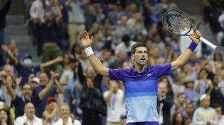 Novak Djokovic se qualifie pour la finale de l'US Open après sa victoire face à Alexander Zverev. (SARAH STIER / GETTY IMAGES NORTH AMERICA)
