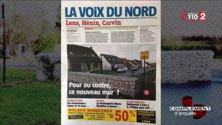 A Hénin-Beaumont, le mur de la discorde (FRANCE 2 / FRANCETV INFO)