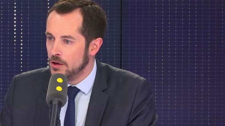 Nicolas Bay, député européendu Rassemblement national sur franceinfo le 29 novembre 2018. (RADIO FRANCE / FRANCEINFO)