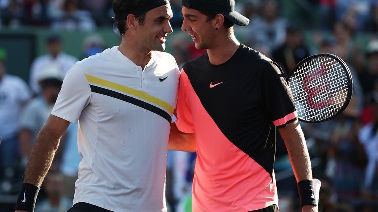 kokkinakis fait tomber Federer de sa 1re place mondiale. (AL BELLO / GETTY IMAGES NORTH AMERICA)