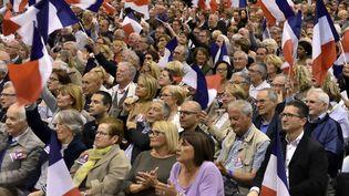 Meeting du candidat Les Républicains, François Fillon, à Marseille(Bouches-du-Rhône), le 11 avril2017. (GERARD BOTTINO / CITIZENSIDE / AFP)